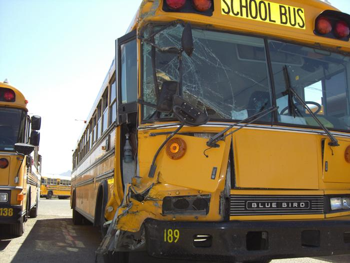 2-bus crash puts 14 students in hospital