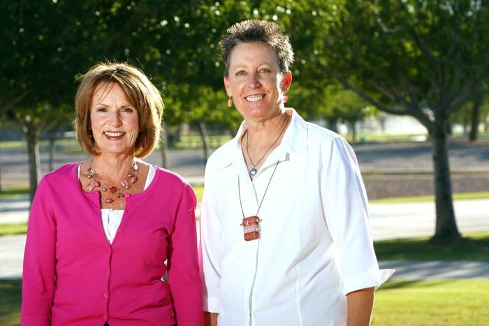 Marilyn Payton and Jocelyn Bronson