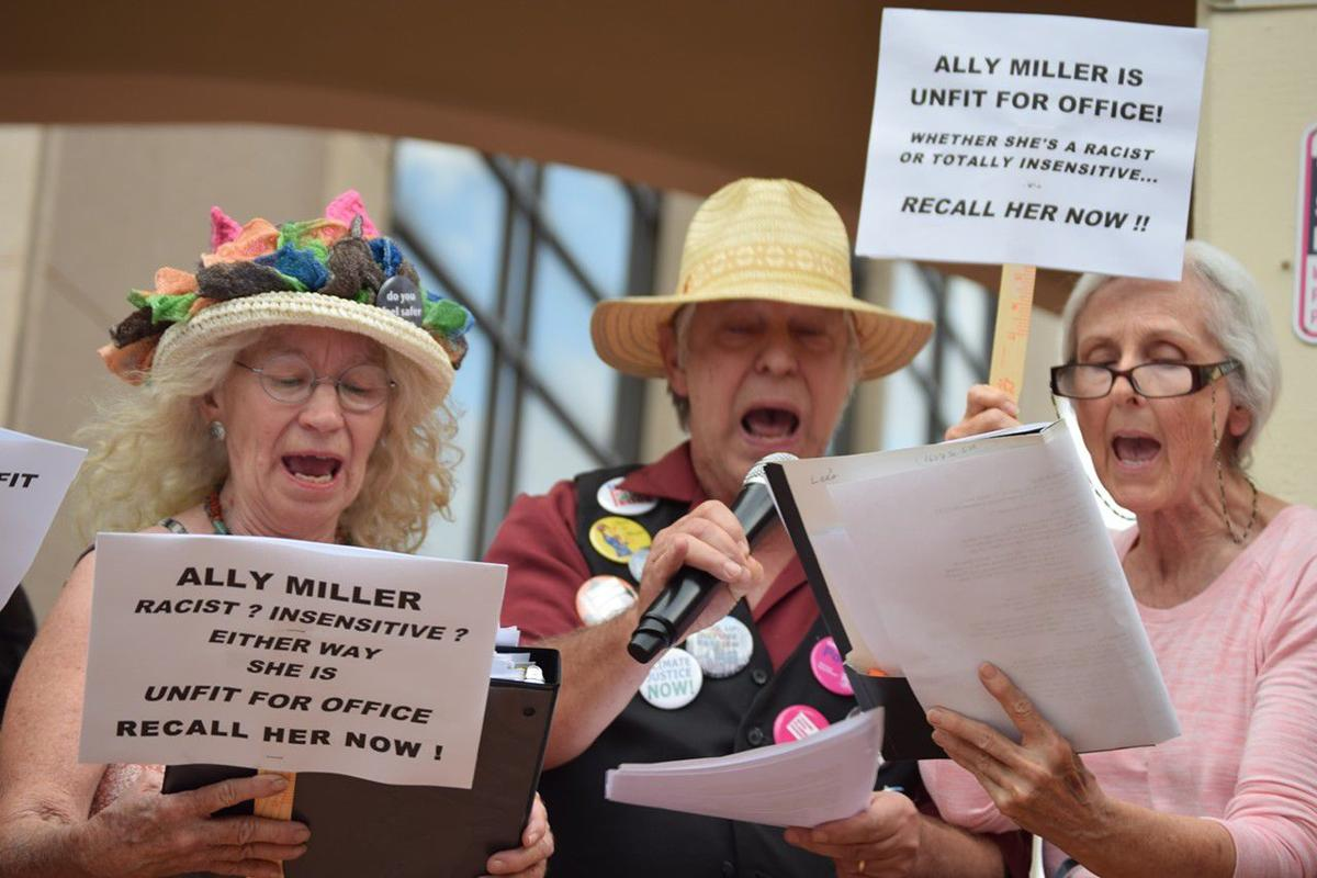 Ally Miller protests