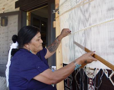 Exhibition of Navajo weavings at Sonoita gallery