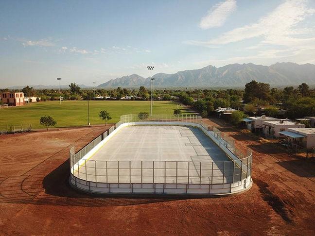 DEK hockey rink at Doolen Middle School