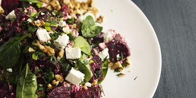 Beetroot Salad With Cottage Cheese