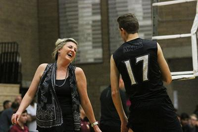 Lindsey Spivey and Caleb Crook Volleyball