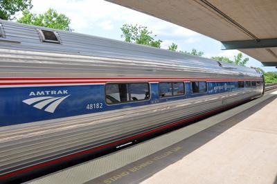 Syracuse, Ny, Usa - May 24, 2012: Amtrak Amfleet I Coach Class Passenger Car #48182 With Phase Vi Pa