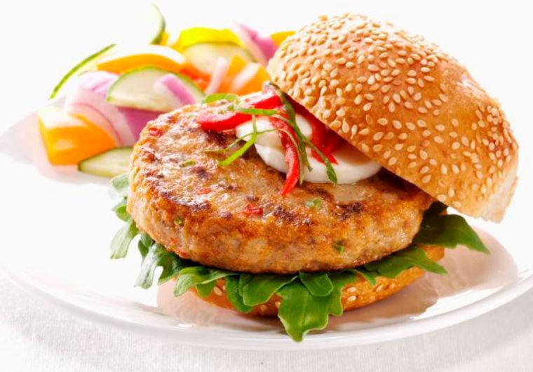 Chicken burger food