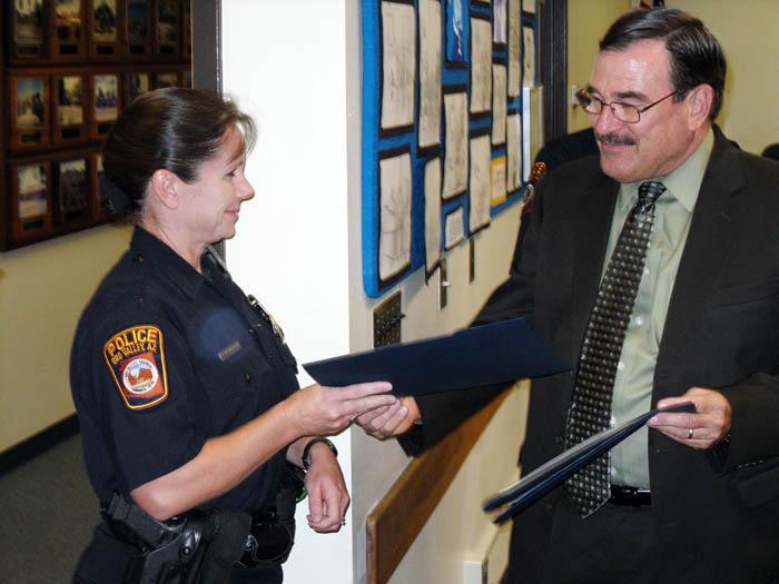 Amphi board fetes OV police officer