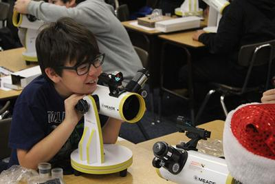 Telescopes at school