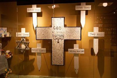 Tucson Shooting crosses