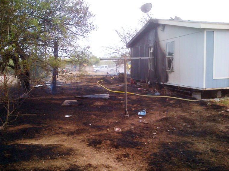 Mobile home lost in trash fire by TIA