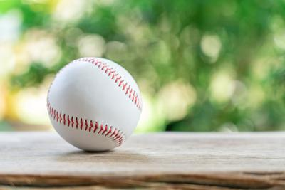 Baseball On Abstract Background And Red Stitching Baseball. White Baseball With Red Thread.baseball