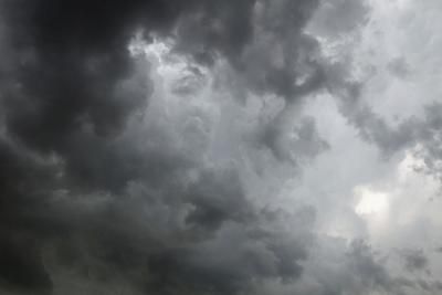 Beautiful storm sky with clouds, apocalypse, tunder, tornado