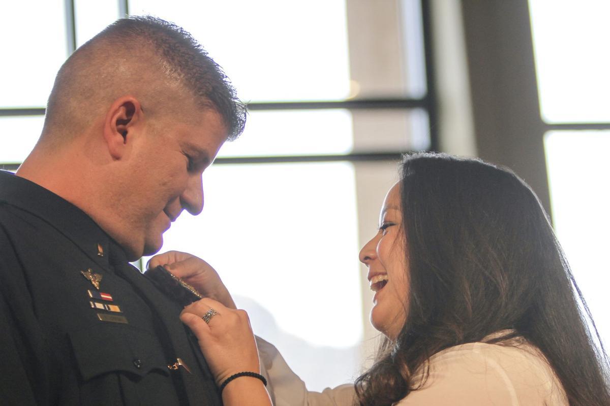 Lt. Matt Horetski and wife
