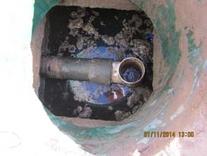 Child rescued from a septic tank