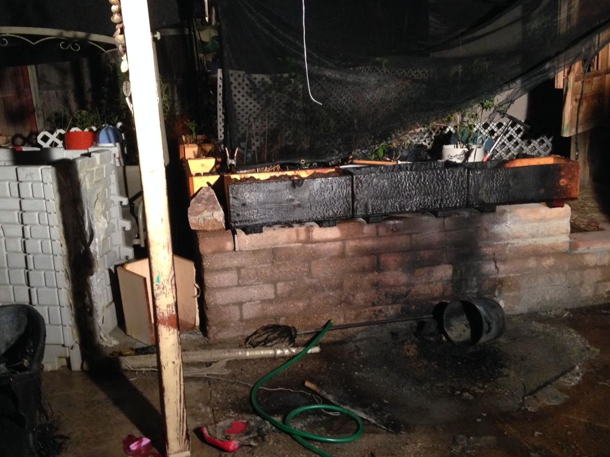 Porch fire