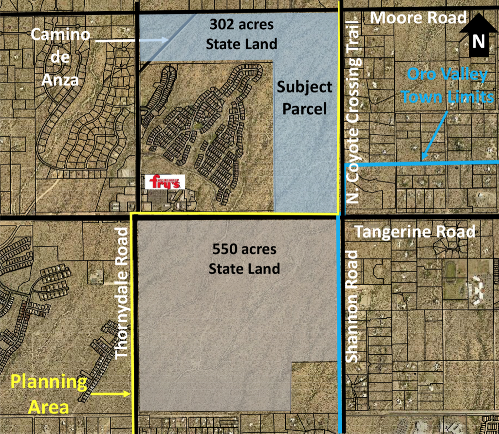 Oro Valley annexation map