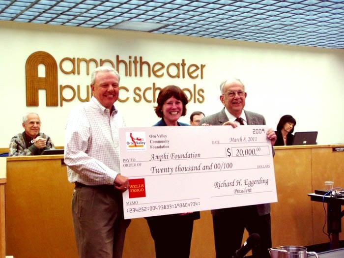 OV foundation presents $20,000 check