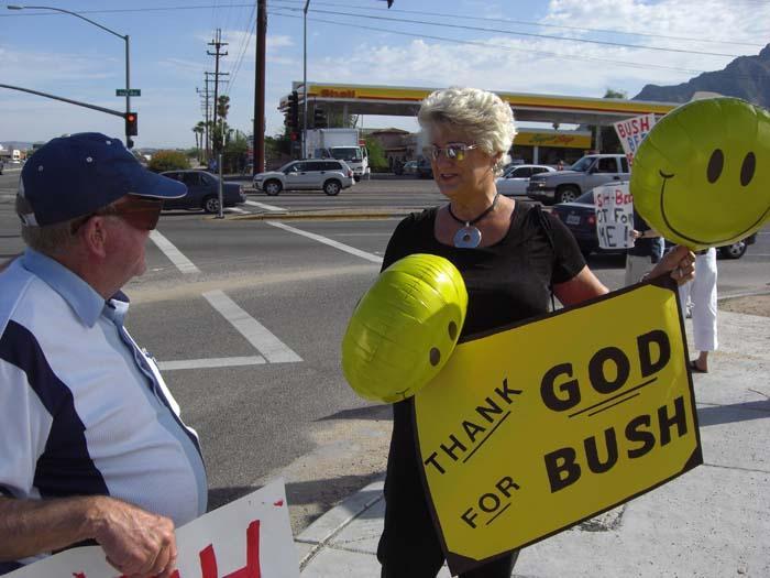 Bush-Bee fund-raiser sparks protests
