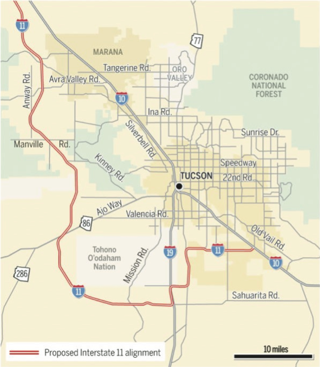 Southern Arizona Interstate 11 Environmental Impact Study Begins