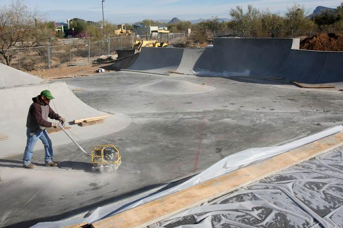 Picture Rocks skate park nears finish
