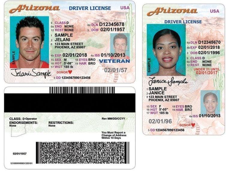 New AZ drivers license
