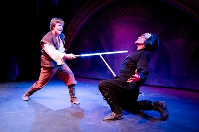 Mike Yarema as Duke Starfighter, Jake Chapman as Dark Brawl.jpg