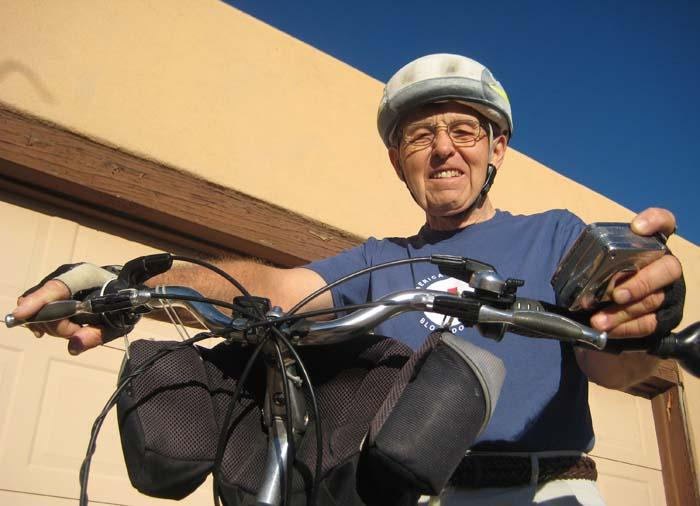 A handyman and a bike