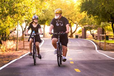 Father-daughter duo on cycling journey