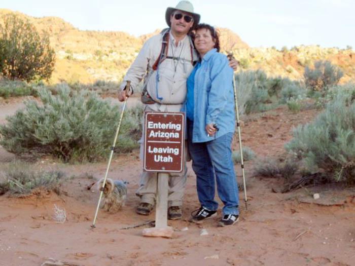 Maranan hikes Arizona, border to border