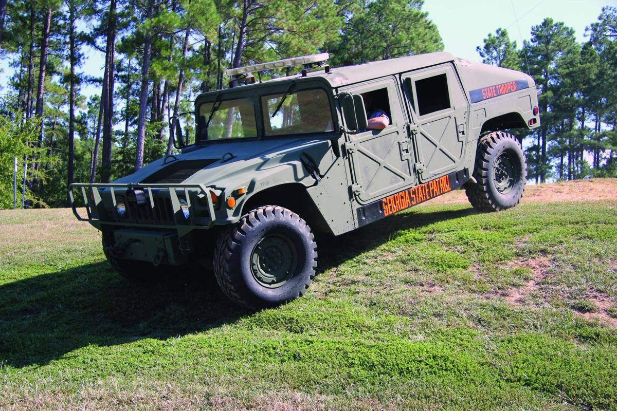 Milledgeville s georgia state patrol post 33 outfit recently received a 1991 military surplus humvee gsp will use the vehicle to better serve the public in