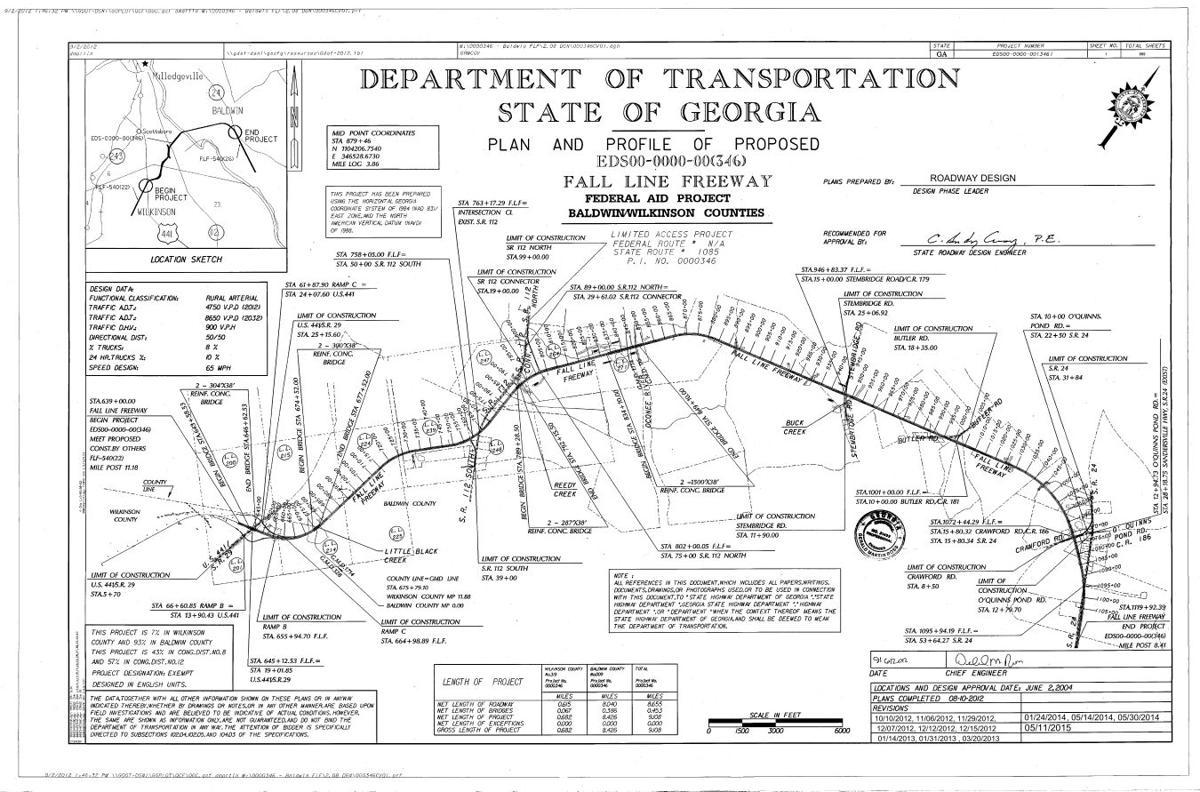 Fall Line Freeway DOT Mappdf Unionrecordercom - Georgia map fall line