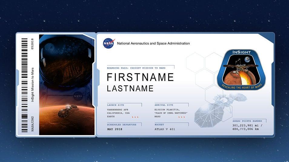Our Space Send Your Name To Mars Columns Unionrecorder Com