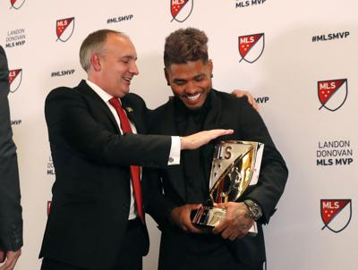 atlanta s martinez wins mvp award in major league soccer sports