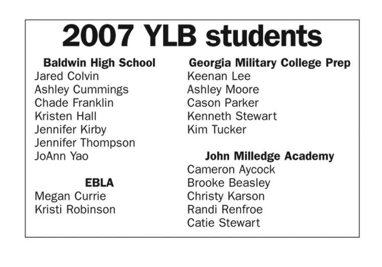 Youth Leadership Baldwin Participants