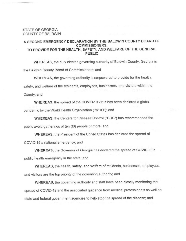 Baldwin Co. emergency declaration