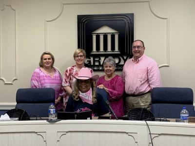 Grady Courthouse goes pink for breast cancer awareness