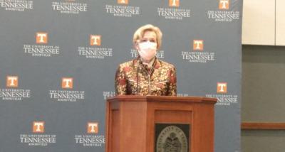 Deborah Birx at UT Press Conference, Sept. 15