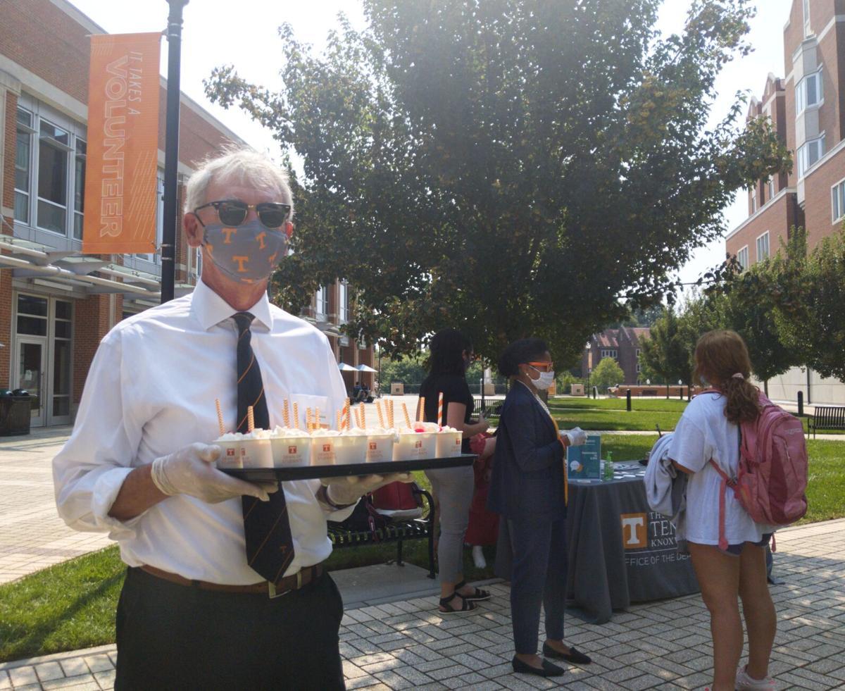 Provost John Zomchick at Milkshake Monday