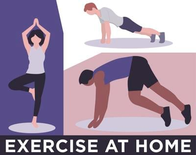 Exercise at home graphic