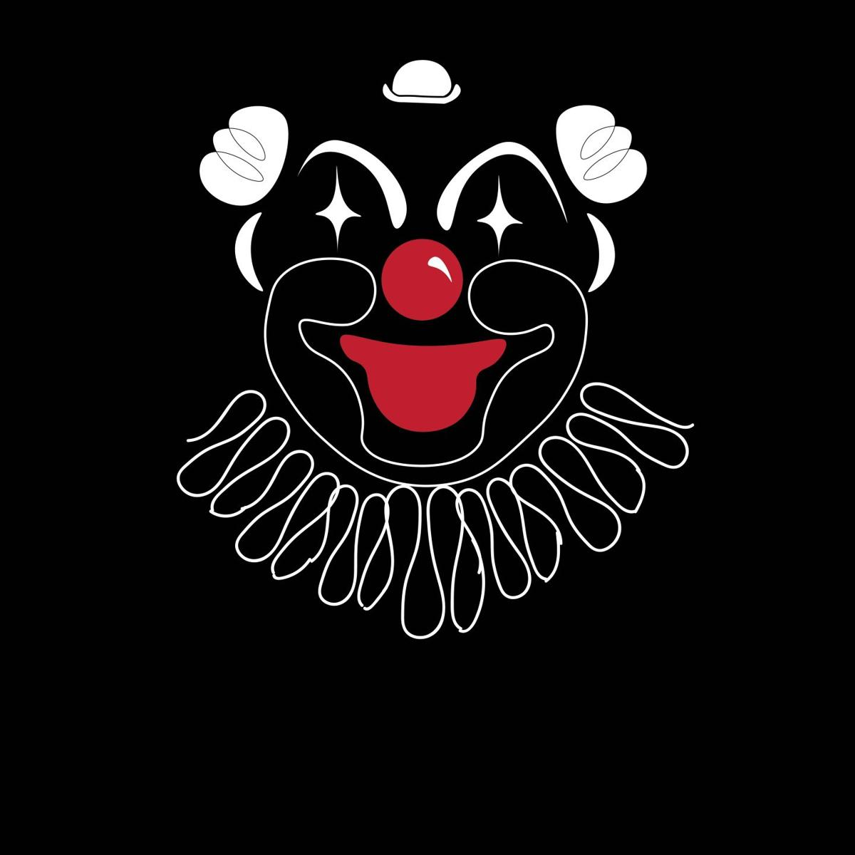 Clown Face Front Page Illustration