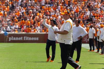 Heupel during Pittsburg game
