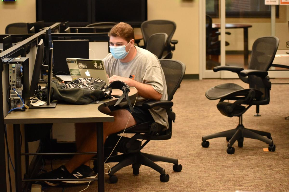 Students studying (with masks)