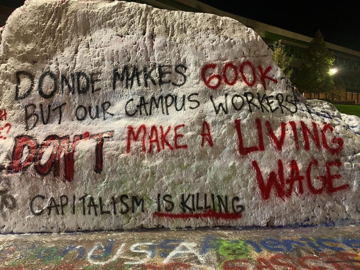 The Rock - Hazard pay for campus workers