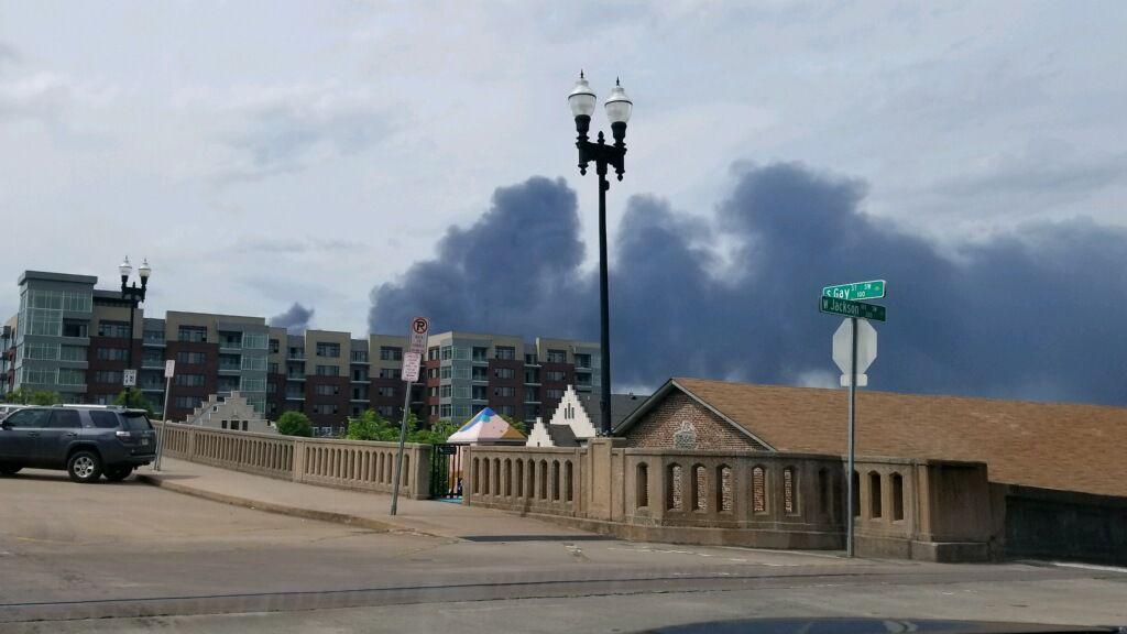 Loudon Waste fire