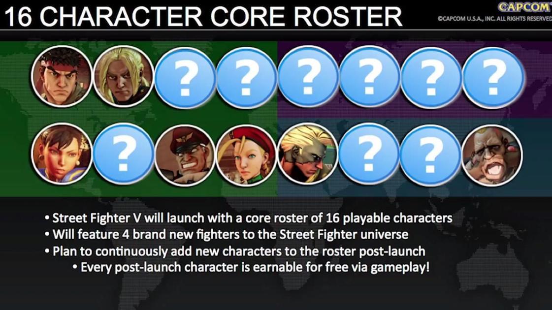 Quick Look Street Fighter V Character Select Screen Utdailybeacon Com