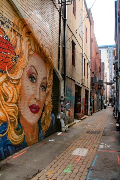 Dolly mural in Market Square