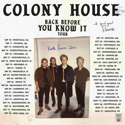 Colony House Tour Poster