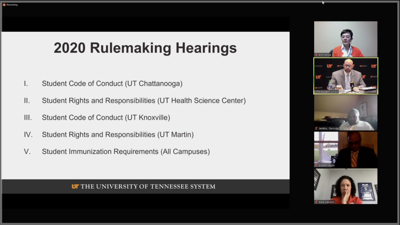 Virtual Rule-making hearing