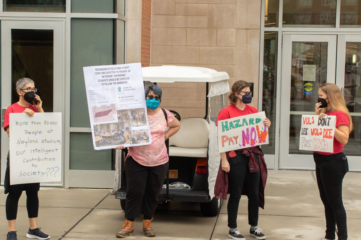 UCW and AAUP rally