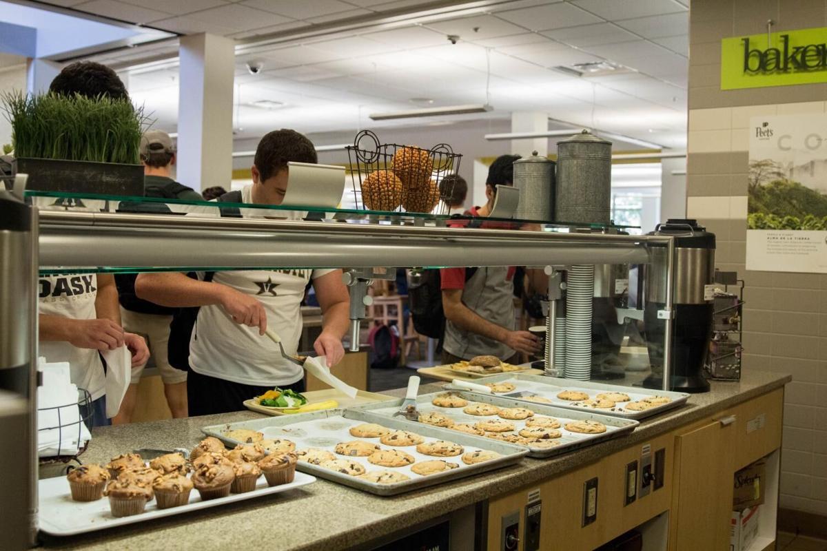 Vanderbilt students in dining hall