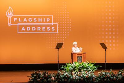 Chancellor Plowman at third flagship address